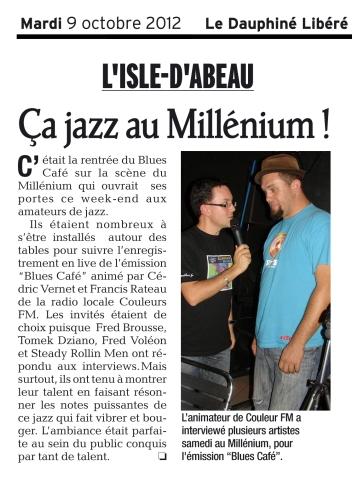 Le Dauphiné Libéré - Octobre 2012