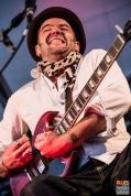 Bastien (guitar, vocas). Blackberry'n Mr Boo-Hoo @ 4ème Blues Party, Les Jardins du Millenium, l'Isle d'Abeau (France), 04.06.2016. (c) Christophe Losberger