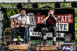 Bastien (guitar, vocas), Franck (vocals, harmonica). Blackberry'n Mr Boo-Hoo @ 4ème Blues Party, Les Jardins du Millenium, l'Isle d'Abeau (France), 04.06.2016. (c) Christophe Losberger