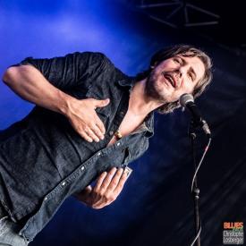 Guy Verlinde (vocals, guitar, harmonica). Guy Verlinde & The Mighty Gators @ 4ème Blues Party, Les Jardins du Millenium, l'Isle d'Abeau (France), 04.06.2016. (c) Christophe Losberger