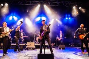 Thorbjørn Risager (vocals, guitar), Peter Kehl (trumpet), Martin Seidelin (drums), Peter Skjerning (guiter), Emil Balsgaard (keyboards), Søren Bøjgaard (bass), Hans Nybo Jørgensen (saxophone). 9Thorbjørn Risager & the Black Tornado @ 4ème Blues Party, Les Jardins du Millenium, l'Isle d'Abeau (France), 04.06.2016. (c) Christophe Losberger