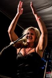 Sofie Reed (vocals). One Rusty Band @ 5ème Blues Party, Les Jardins du Millenium, l'Isle d'Abeau (France), 10.06.2017. (c) Christophe Losberger