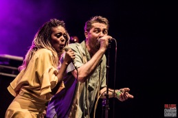 Bonita Niessen (vocals), Michael Arlt (vocals, harmonica). Bonita and the Blues Shacks @ 5ème Blues Party, Les Jardins du Millenium, l'Isle d'Abeau (France), 10.06.2017. (c) Christophe Losberger