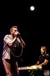 Michael Arlt (vocals, harmonica), Fabian Fritz (keyboards). Bonita and the Blues Shacks @ 5ème Blues Party, Les Jardins du Millenium, l'Isle d'Abeau (France), 10.06.2017. (c) Christophe Losberger